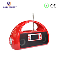 Dongguan Emergency Light Rechargeable Battery Portable FM USB Mini FM Radio