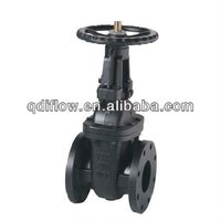 Metal seat water gate valve with handwheel gear operation
