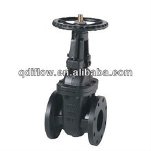 Metal seat water gate valve with handwheel gear operation