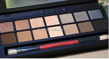2014 New Arrival 14 colors series smoky smash box palette eyeshadow mix-colors sexy smash box shadow with brush