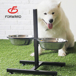beauty stainless steel pet/dog/cat bowl with shelf
