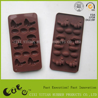 Easter day cake mould rabbit and egg shaped silicone cake mold