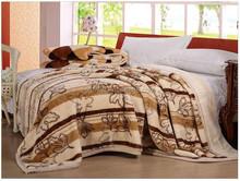 100% polyester Raschel korean acrylic mink blanket