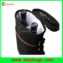 2 Bottle Wine tote Cooler Bag, Insulated Wine Bag