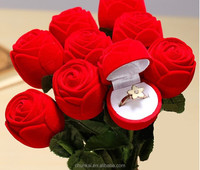 New Products 2015 Innovative Products Wholesale Boxing Ring Manufacturers Red Velvet Rose Wedding Ring Box