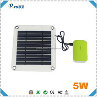 Amazon Hot selling!!! High Efficency Semi-flexible Solar Panel 5W emergency power for iphone etc.