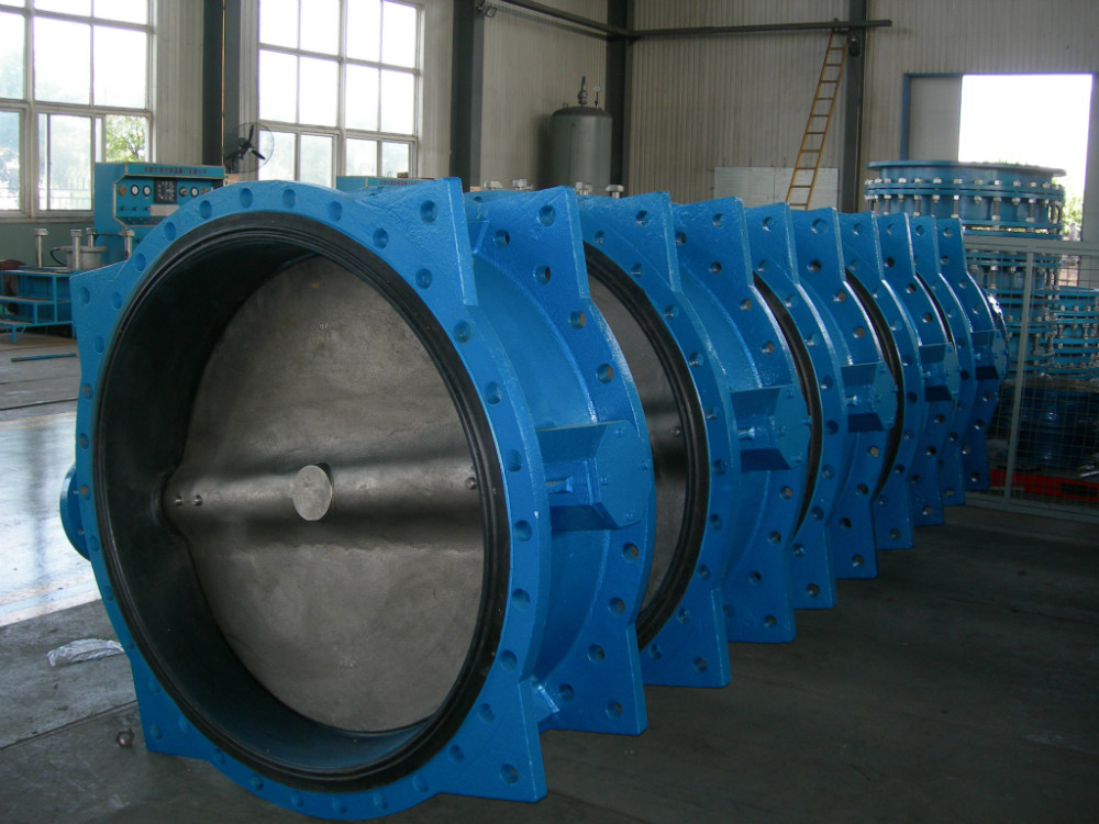 ductile iron butterfly valve-double flange valve