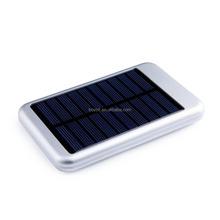 2015 hot sale universal travel waterproof emergency 5000mah solar power bank for mobile phone