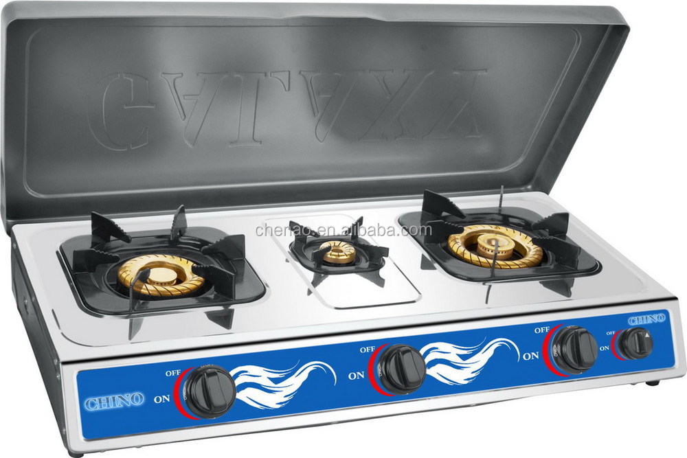 Gas Stove Built In - Counter Top 3 Burner Cooktop Range Glass Top ...
