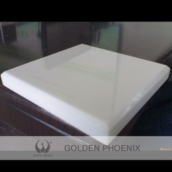 white faux marble slab crystal-clear in appearance like jade