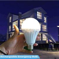5w 7w 9w 12w home use bulbs rechargable emergency e27 led bulb light