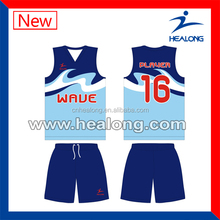 warm color v-neck basketball wear wholesale