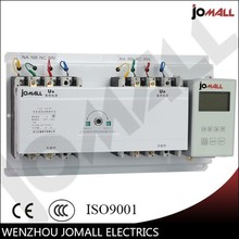 100A 3 phase 4 pole automatic transfer switch ats with English controller