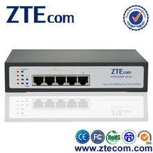 ZTEcom Super Safety Hot Selling High Power PoE 5 port Switch with CE