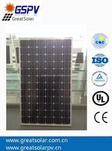 200 watt monocrystalline photovoltaic solar panel made in China