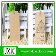 Silk screen printing kraft hang tags,clothing label
