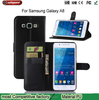 Fashion new design Litchi lines flip leather wallet case, cell phone case with stand for samsung a8 holster