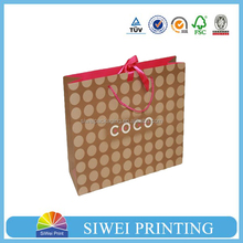 2015 Wholesale customized special design food take away paper bag for electronic packaging