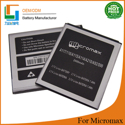 li-ion injiect mold compatable Battery For Micromax A116