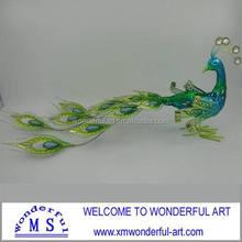 new figurine metal iron peacock decor