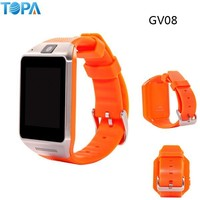 1.5 inch capacitive touch screen new android 4.4 bluetooth smart watch phone gv08