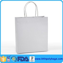 Hot product Custom White Kraft Paper retail Bags with String Handle