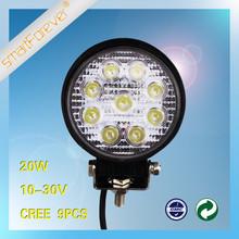 12V Round Aluminum 20W LED Work Light