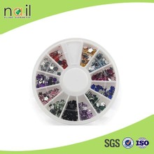 The plum blossom 12 colors nail decor acrylic flat nail art decoration for women
