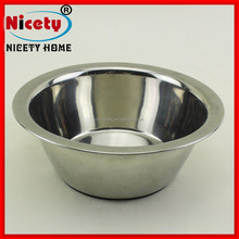 Wholesale 17cm stainless steel polishing dog water bowl / pet feed bowl