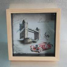 Solid wood frame, wood color frame, stylish simplicity, giving the effect of simple, safe to use