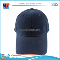 blue blank strap back cotton custom baseball caps 6 panel cap