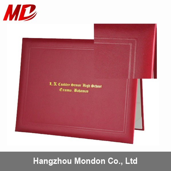 Paper Certificate Holders Red Paper Certificate Holders