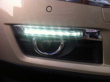 led Daytime running light For Cadillac SRX ,2pcs+wire of harness,black, 12V,6000~7000k,Super quality led drl