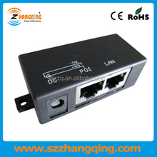 Single Port 12V 24V 48V passive 100M PoE Injector For IP Camera AP VOIP
