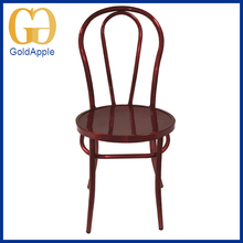 2015 Best-selling powder coating wine red dining metal bar chair