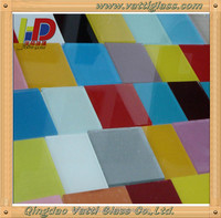 Colorful cheap tempered polycrystalline paint glass,clear glass with paint/shade