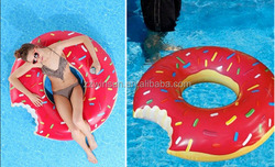 Sweet heart PVC inflatable donut swim ring for sale