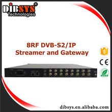 ideal for digital TV broadcasting equipment -8* DVB-S2/IP Streamer for professional video headend solutions