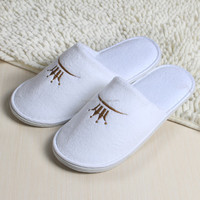 new design 100%cotton hotel slippers disposable pedicure slippers