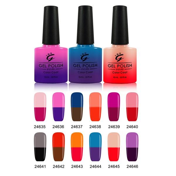IBN couleur changement gel, température gel polonais, gel vernis à ongles