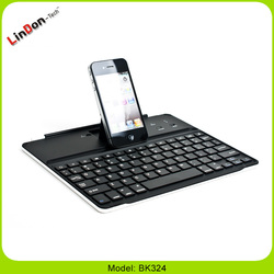 High quality display stand wireless slim bluetooth keyboard case for iPad 2 3 4