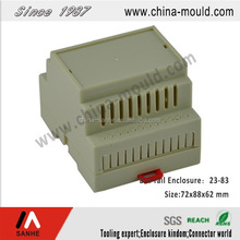 ABS electronic standard din-rail enclosure for terminal block