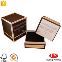 custom printed cardboard bottle Packaging gift box for candle