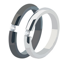 Yiwu Aceon Fashion Stainless Steel Couple Love Ring Wedding Ring Set Wholesale