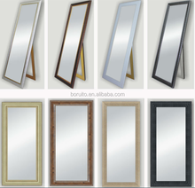 High quality chear floor dressing mirror with white color