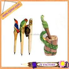 New innovative christmas gifts wooden toy ballpoint pen office supply ballpen