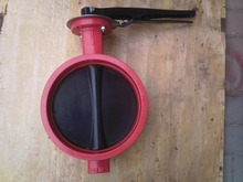 D81X - 16 Grooved Butterfly Valve c/w Lever Handle dn150