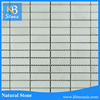 Polished 15x48mm cheapest gray white marble mosaic tiles