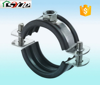 stell galvanized rubber pipe clamp for greenhouse