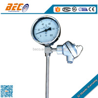 Factory price hydraulic temperature gauge with thermoelectric couple